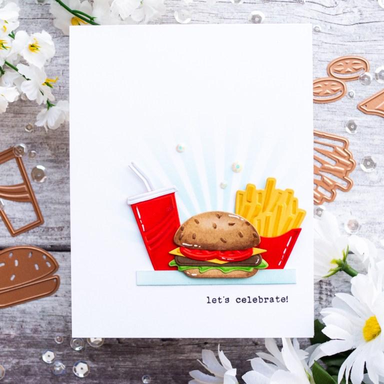 Spellbinders Die D-Lites Inspiration | Drive Thru' Let's Celebrate Greeting Card with Gemma