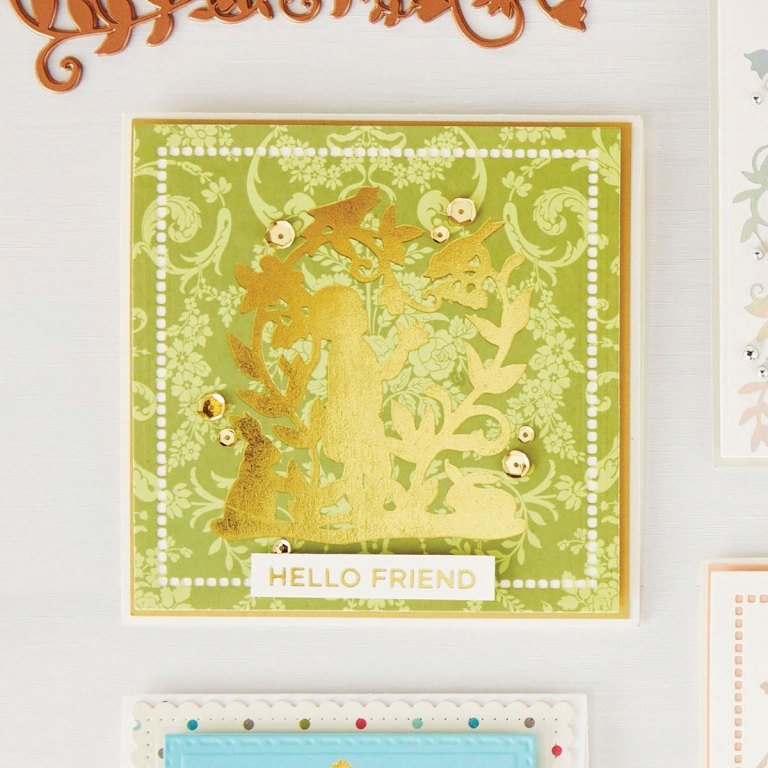 Spellbinders - Happy Die & Glimmer Plates Collection Introduction by Sharyn Sowell