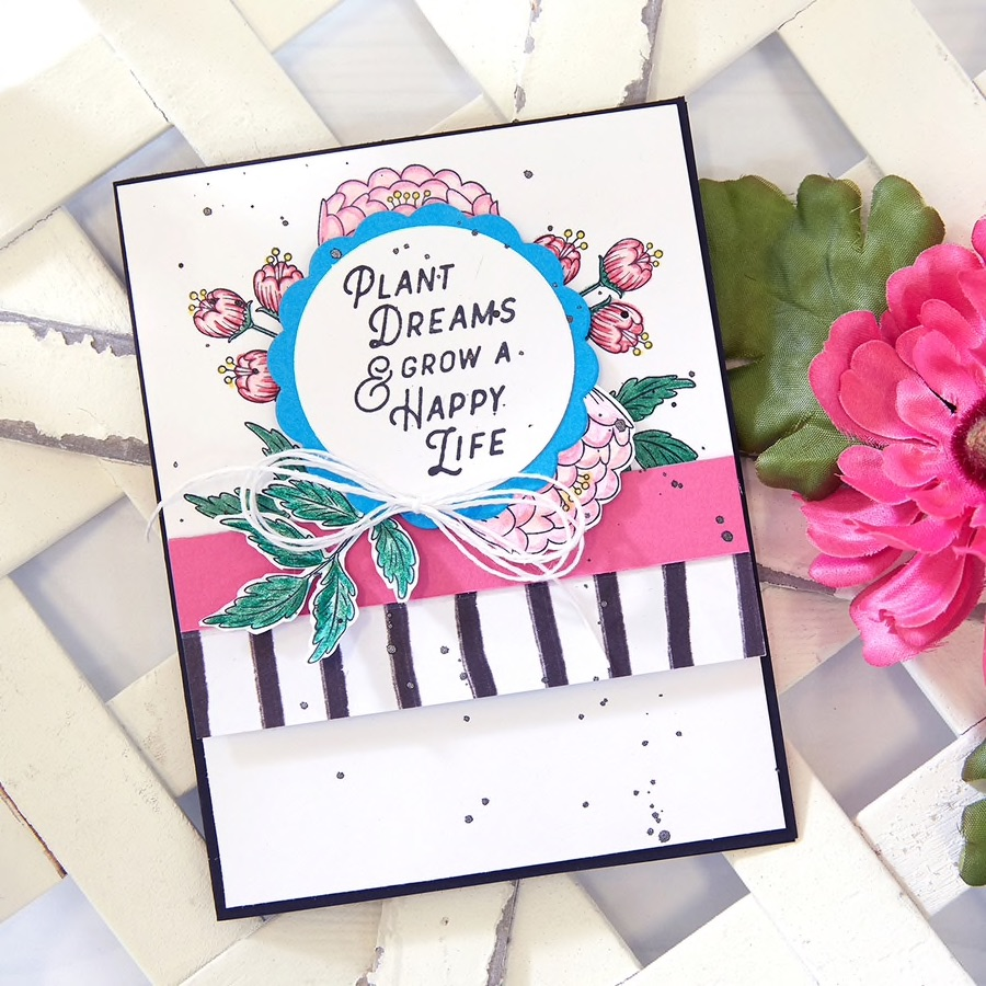Fun Stampers Journey April 2019 Stamp of the Month, Fresh Start, for handmade floral cards and crafts