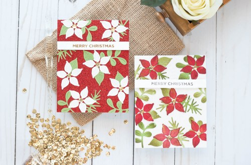 Spellbinders Holiday 2019 Inspiration | Foiled Christmas Cards with Marie