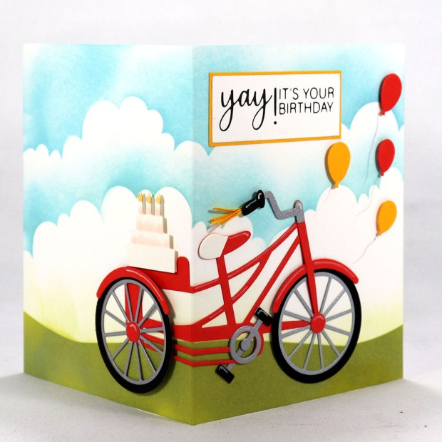 "Spellbinders July Clubs Inspiration Roundup - ""3D Fun Time Cruiser"" Large Die of the Month"