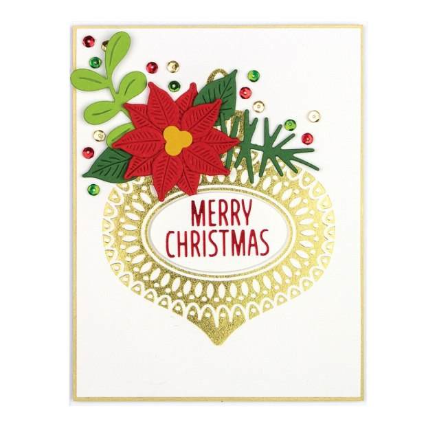 Ornament Glimmer Hot Foil Plate Holiday 2019