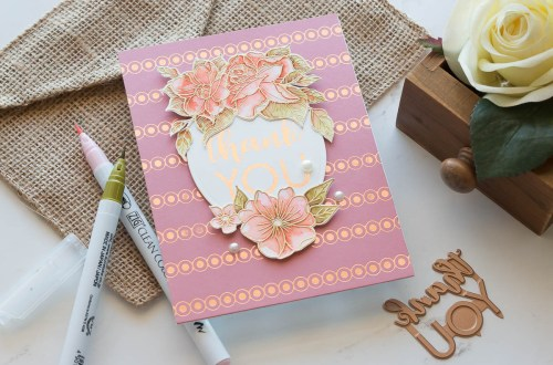 Spellbinders October 2019 Glimmer Plates Inspiration | Beautifully Foiled Cards by Marie Heiderscheit