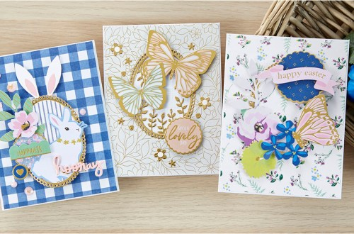 Spellbinders March 2020 Card Kit of the Month is Here – Feeling Hoppy #Spellbinders #SpellbindersClubKits #NeverStopMaking