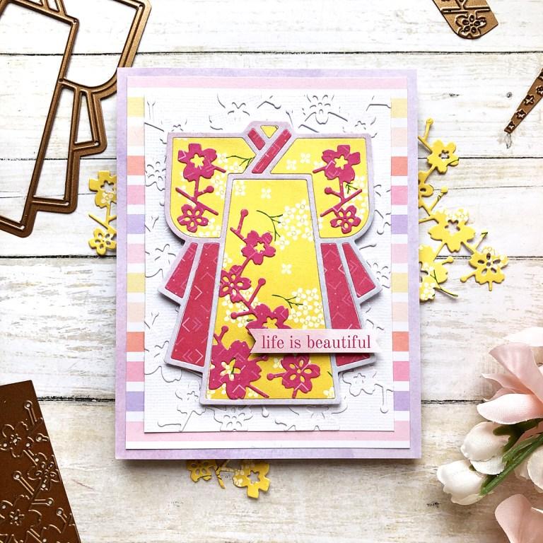 Spellbinders Destination Japan Collection Inspiration | with Enza Gudor #Spellbinders #NeverStopMaking #DieCutting