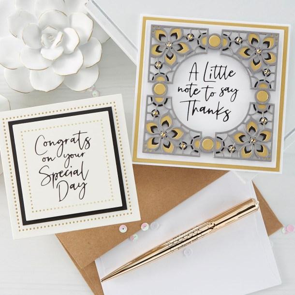 Spellbinders June 2020 Glimmer Hot Foil Kit of the Month is Here – Let Your Sentiments Shine #Spellbinders #NeverStopMaking #GlimmerHotFoilSystem #Cardmaking