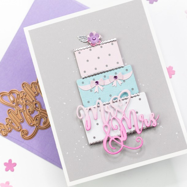 Spellbinders Wedding Season Collection by Nichol Spohr - Inspiration | Handmade Wedding Cards Ideas with Jennifer Bolton | Video tutorial #Spellbinders #NeverStopMaking #DieCutting #Cardmaking