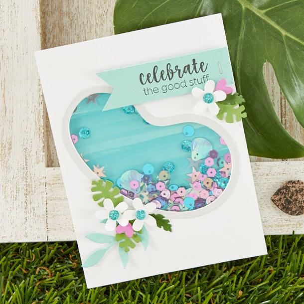 Celebrate The Good Stuff Card. Spellbinders / Fun Stampers Journey Happy Place Project Kit is Here! #Spellbinders #NeverStopMaking #Cardmaking