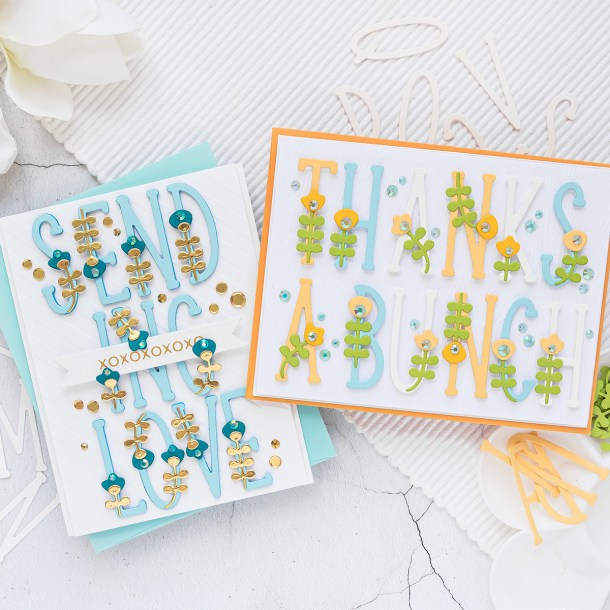 Spellbinders July 2020 Large Die of the Month is Here – How Does Your Garden Grow Alphabet #Spellbinders #NeverStopMaking #SpellbindersCardKits #Cardmaking