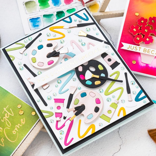 Spellbinders August 2020 Large Die of the Month is Here – 3D Still Life Easel & Canvas #SpellbindersClubKits #Spellbinders #NeverStopMaking #Cardmaking #DieCutting