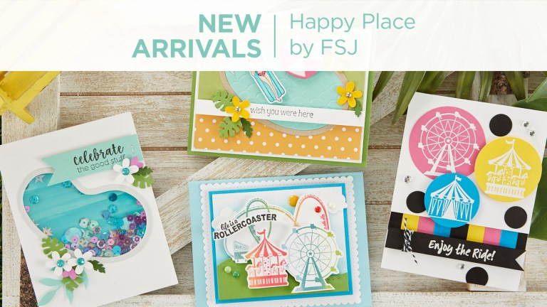 What's New | Happy Place Collection from Fun Stampers Journey #Spellbinders #NeverStopMaking #FunStampersJourney #Cardmaking