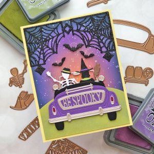 Halloween and Fall Cards with Brenda Noelke for Spellbinders featuring Fall & Halloween 2020 Collection #Spellbinders #NeverStopMaking #GlimmerHotFoilSystem #Cardmaking