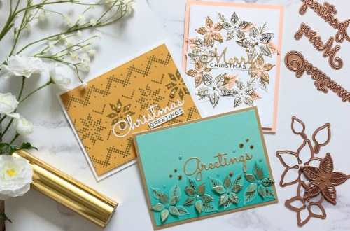 The Glimmering Christmas Project Kit by Spellbinders | Cardmaking Inspiration with Amanda Korotkova | Video tutorial #Spellbinders #NeverStopMaking #DieCutting #Cardmaking #ChristmasCardmaking #GlimmerHotFoilSystem
