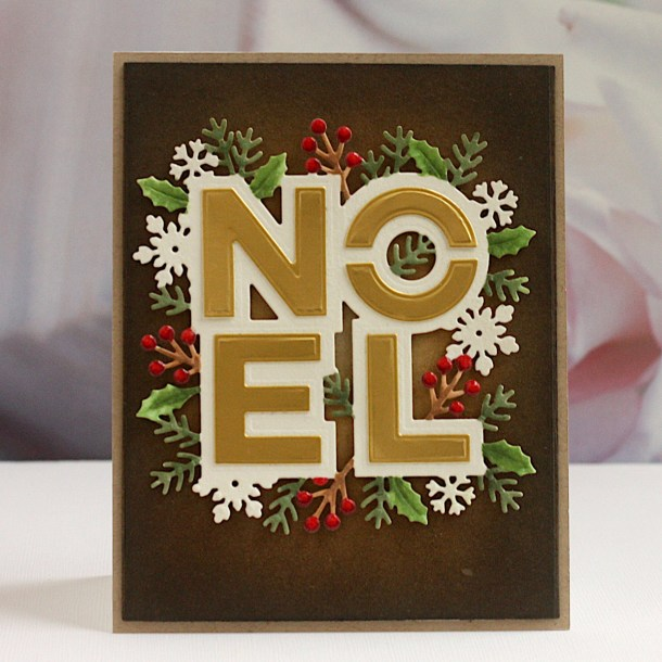 Spellbinders Sparkling Christmas Collection – Cardmaking Inspiration with Karin Åkesdotter #Spellbinders #NeverStopMaking #Christmascardmaking #Cardmaking