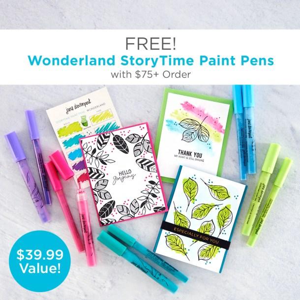 FREE Jane Davenport Wonderland StoryTime Paint Pens with $75+ Order!
