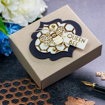 Becca Feeken Sweet Cardlets Glimmer Project Kit | Cardmaking Inspiration with Bibi Cameron | Video Tutorial | Create Multipurpose Toppers #NeverStopMaking #DieCutting #Cardmaking #GlimmerHotFoilSystem