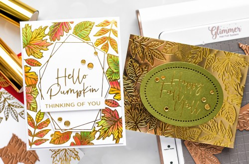 Spellbinders October 2020 Glimmer Hot Foil Kit of the Month is Here – Crimson Fall #Spellbinders #SpellbindersClubKits #NeverStopMaking #GlimmerHotFoilSystem