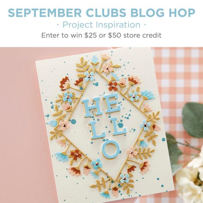 Spellbinders September 2020 Clubs Inspiration Blog Hop + Giveaways