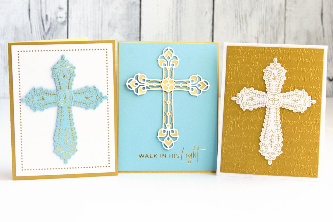 In Faith - Foiling and Diecutting. Spellbinders Expressions of Faith Collection. Handmade card by Jean Manis #Spellbinders #NeverStopMaking #DieCutting #GlimmerHotFoilSystem