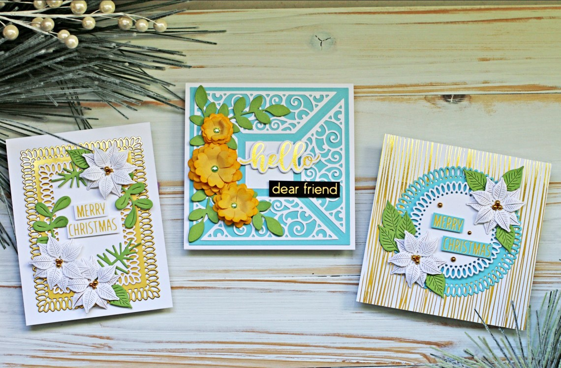 Spellbinders Becca Feeken Picot Petite Collection - Cardmaking Inspiration with Sandi MacIver #Spellbinders #NeverStopMaking #AmazingPaperGrace #DieCutting #Cardmaking