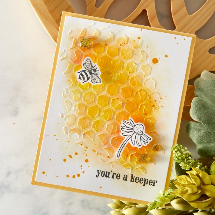 What's New | FSJ Buzzworthy Collection - Sweet Honeycomb Stencil from the FSJ Buzzworthy Collection