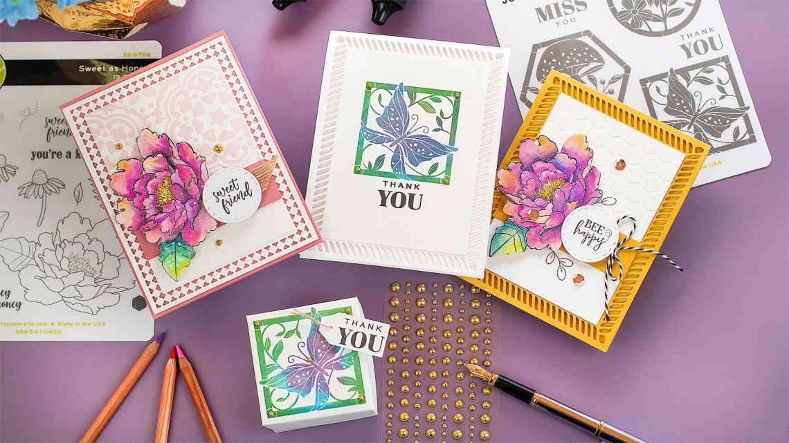 Spellbinders & FSJ Buzzworthy Project Kit | Cardmaking Inspiration With Bibi Cameron | Video tutorial #NeverStopMaking #DieCutting #Cardmaking
