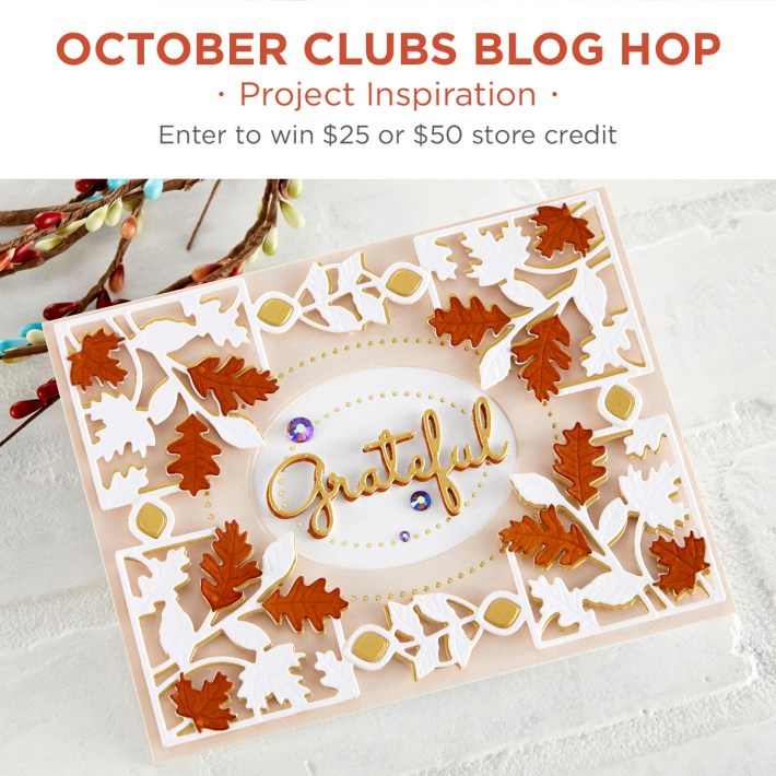 Spellbinders October 2020 Clubs Inspiration Blog Hop + Giveaways