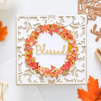 Spellbinders October 2020 Small Die of the Month is Here – Fall Leaves Card Creator #Spellbinders #SpellbindersClubKits #NeverStopMaking