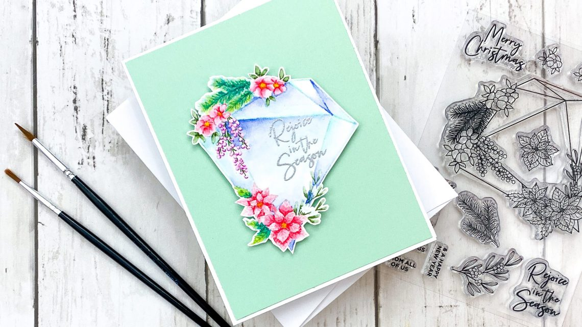 November 2020 Clear Stamp of the Month – Christmas Gem. Inspiration with Channin