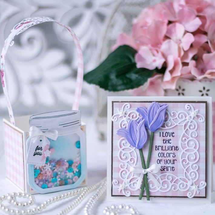 March 2021 Amazing Paper Grace Die of the Month is Here – Mini 3D Vignette Floral Mason Jar