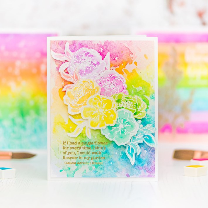 Rainbow Floral Cards with Mona Toth