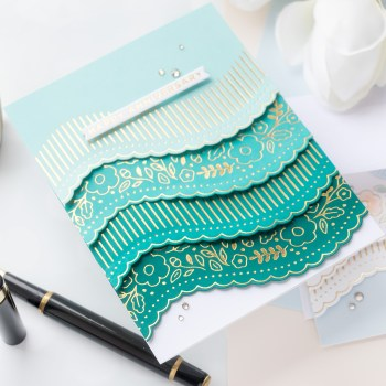 April 2021 Glimmer Hot Foil Kit of the Month is Here – Curved Glimmer Border & Sentiments
