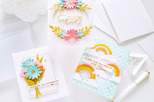 Embossed Cards Trio with Yasmin Diaz