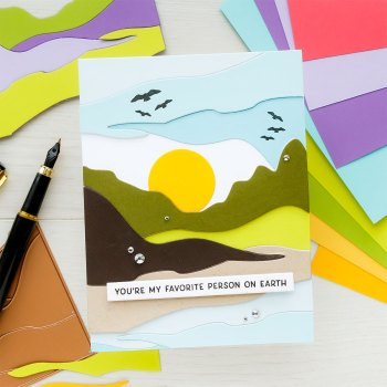 June 2021 Small Die of the Month Is Here – Colorblock Landscape