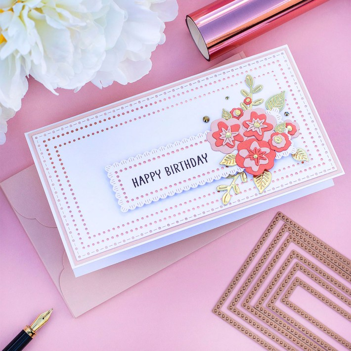 July 2021 Glimmer Hot Foil Kit of the Month is Here – Mini Slimline Nested Glimmer Dots