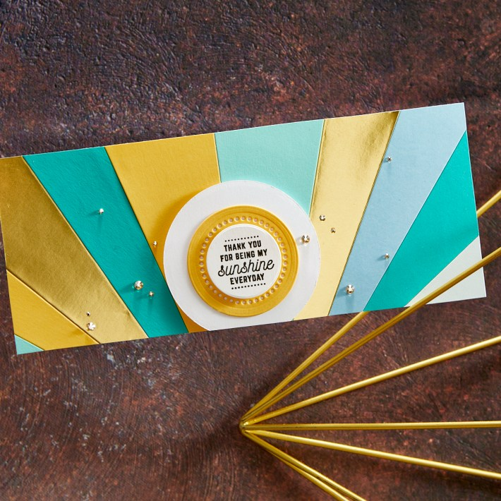 Colorful Circles and Stripes Slimline | Spellbinders Live