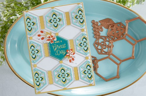 August 2021 Small Die of the Month Is Here – Hex Kaleidoscope Tile