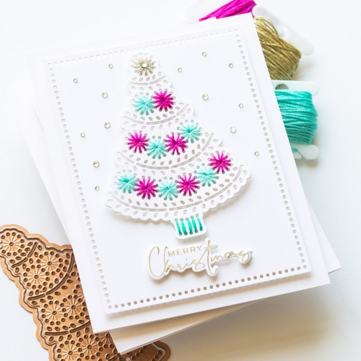 Merry Stitchmas Coordinating Card Duo with Angela Simpson