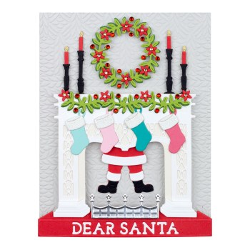 October 2021 Large Die of the Month Preview & Tutorials – Santa's Fireplace