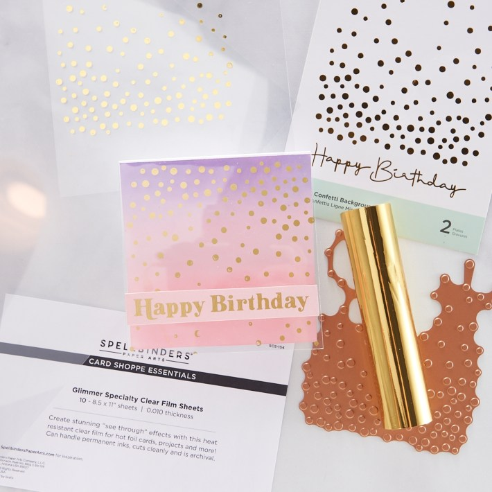 Glimmer Hot Foil on Three Surfaces | Spellbinders Live