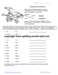 Compound Word Worksheets For Fourth Grade. Compound. Best ...