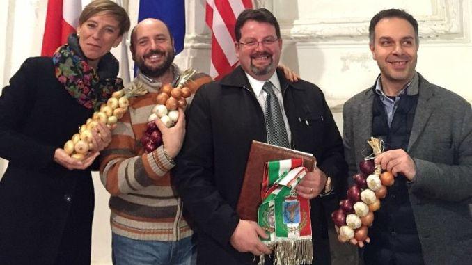 Festa della Cipolla di Cannara winter edition, conclusa con la firma del patto di gemellaggio