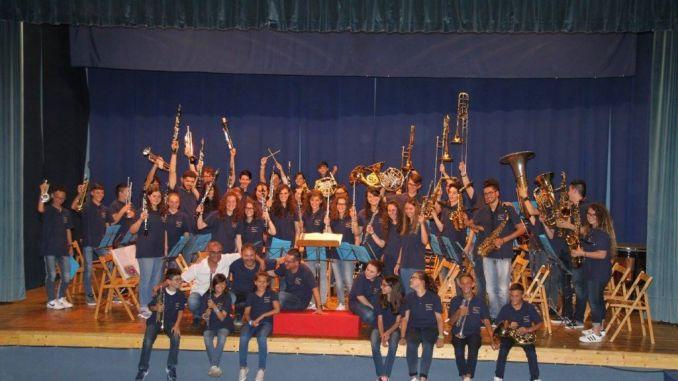 Campus musicale a Cannara, con la Filarmonica, una montagna di note