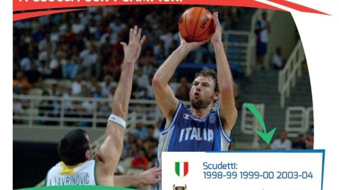 Il grande campione della pallacanestro Gek Galanda a Cannara