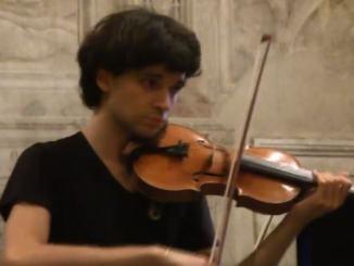 Concerto del violinista Stefano Mhanna alla chiesa Sant'Andrea di Spello