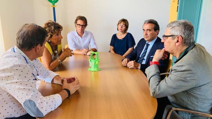 Il neo commissario della Usl 2 Massimo Braganti in visita questa mattina al Centro salute di Spello