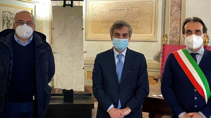 Spello: visita a sorpresa del prefetto Perugia Gradone al sindaco Landrini