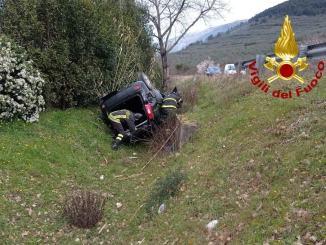 incidente stradale a Capodacqua di Assisi