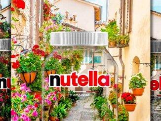 Ad ottobre i vicoli fioriti di Spello raffigurati sui vasetti in edizione limitata della Nutella