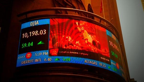 Toronto Stock Exchange Ticker